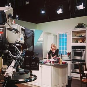 Rachael Johnson on the set of Daytime NBC